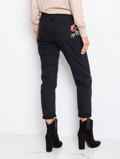 Czarne jeansy Shannie                              zdj.                              2