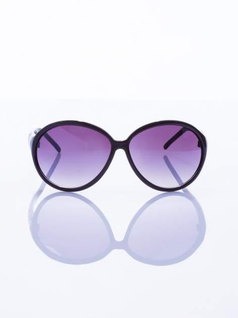 """Czarne klasyczne damskie okulary """"muchy""""                                  zdj.                                  2"""