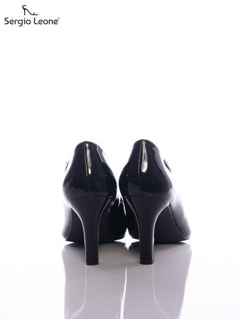 Czarne lakierowane czółenka Sergio Leone                              zdj.                              3