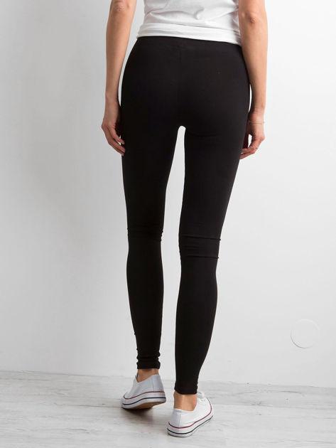 Czarne legginsy damskie basic                              zdj.                              2