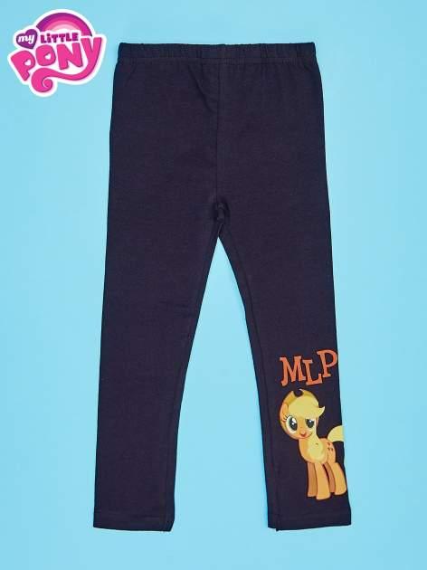 Czarne legginsy dla dziewczynki motyw MY LITTLE PONY