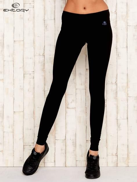 Czarne legginsy sportowe ze szwem