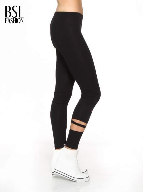Czarne legginsy z dziurami                                  zdj.                                  3