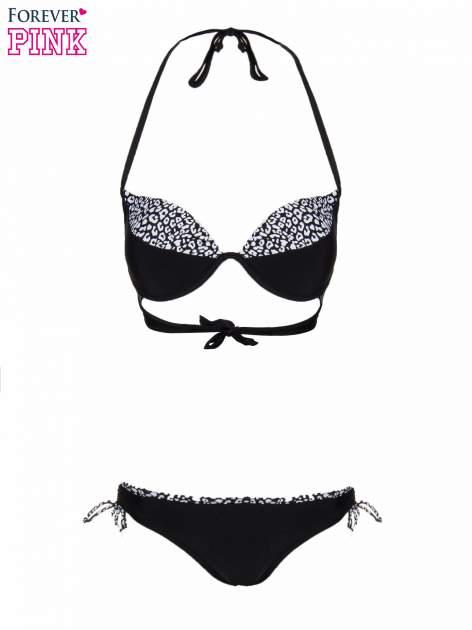 Czarne majtki kąpielowe z motywem pantery                              zdj.                              5