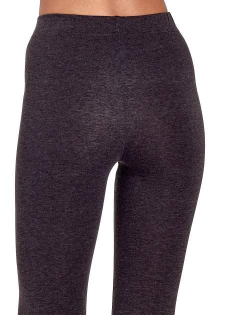 Czarne melanżowe legginsy damskie basic                                  zdj.                                  7