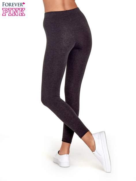 Czarne melanżowe legginsy damskie basic                                  zdj.                                  4