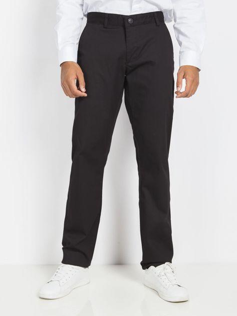 Czarne męskie spodnie chinosy