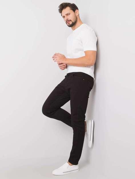 Czarne męskie spodnie jeansowe Jeffrey