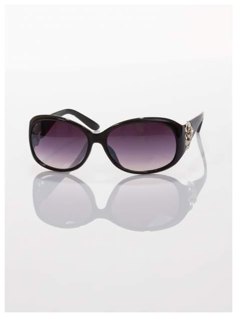 Czarne piękne okulary przeciwsłoneczne dla kobiet -KLASYKA                                   zdj.                                  2