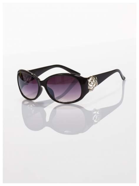 Czarne piękne okulary przeciwsłoneczne dla kobiet -KLASYKA                                   zdj.                                  1