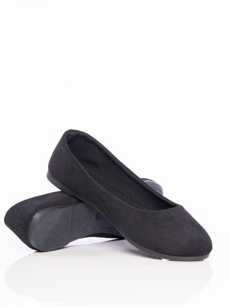 Czarne półażurowe baleriny z migdałowym przodem                                  zdj.                                  4