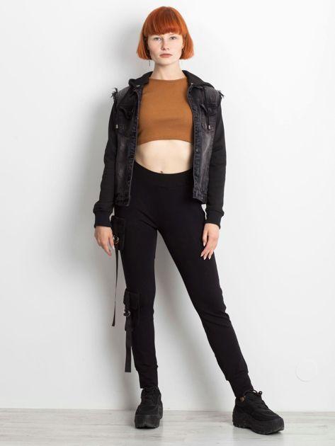 Czarne spodnie Vulnerable                              zdj.                              4