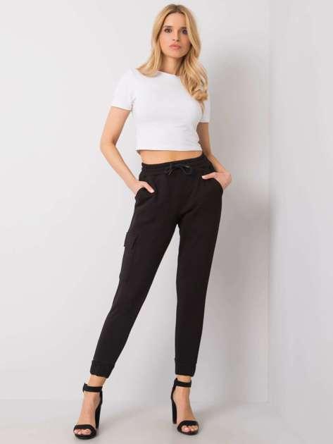 Czarne spodnie dresowe Eileen RUE PARIS