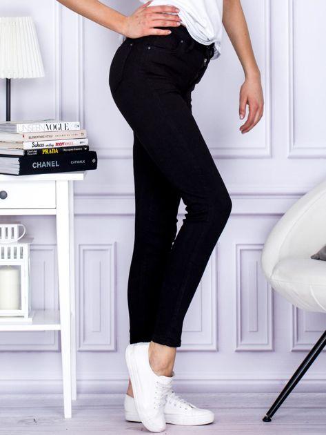 Czarne spodnie high waist                               zdj.                              5
