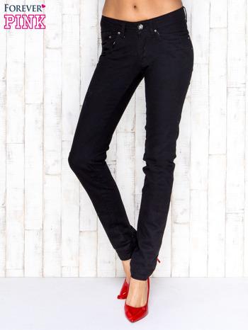 Czarne spodnie jeansowe z prostą nogawką                                  zdj.                                  1