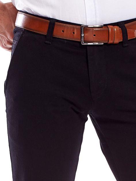 Czarne spodnie męskie regular                               zdj.                              5