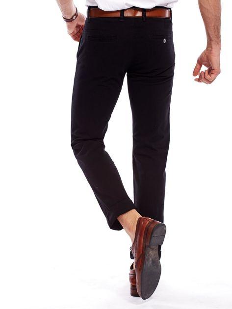 Czarne spodnie męskie regular                               zdj.                              2