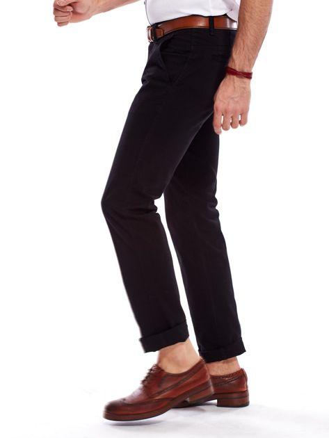 Czarne spodnie męskie regular                               zdj.                              8