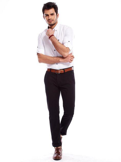Czarne spodnie męskie regular                               zdj.                              10