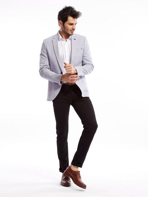 Czarne spodnie męskie slim fit                              zdj.                              4