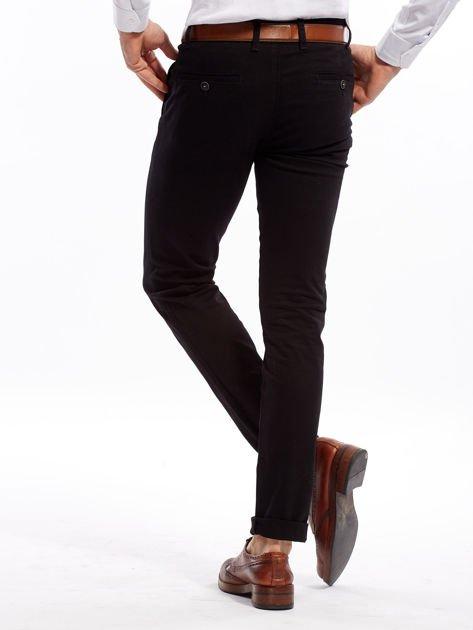 Czarne spodnie męskie slim fit                              zdj.                              7