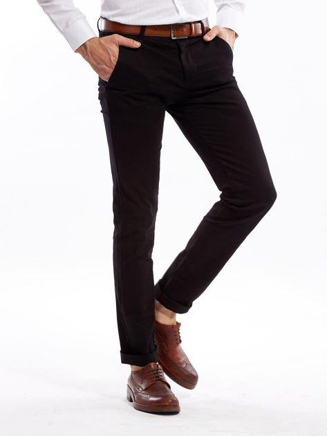 Czarne spodnie męskie slim fit                              zdj.                              6