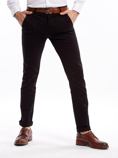 Czarne spodnie męskie slim fit                              zdj.                              1