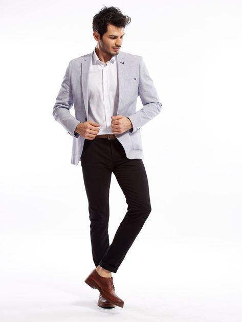Czarne spodnie męskie slim fit                              zdj.                              10