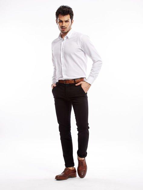 Czarne spodnie męskie slim fit                              zdj.                              13