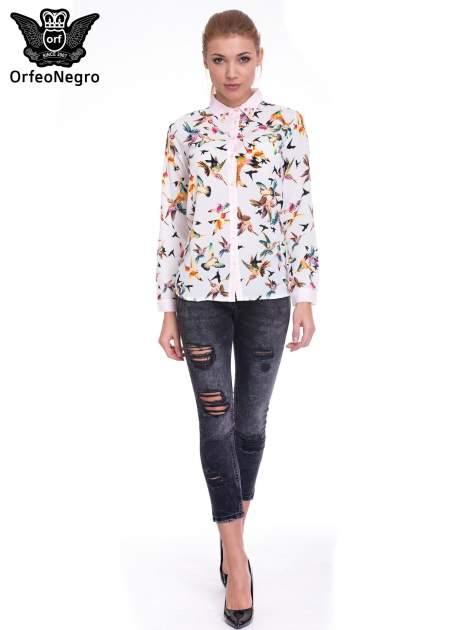Czarne spodnie skinny jeans z dziurami                                  zdj.                                  2