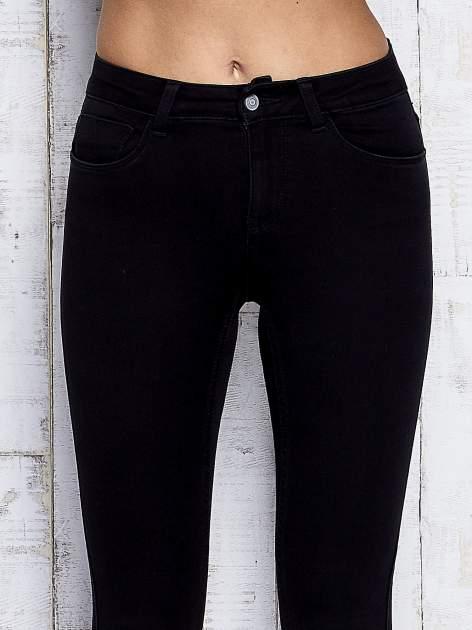 Czarne spodnie skinny jeans z napami                                  zdj.                                  4