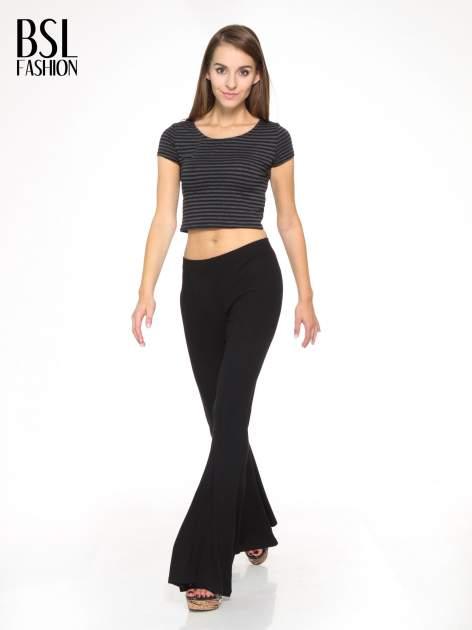 Czarne spodnie typu dzwony                                  zdj.                                  2