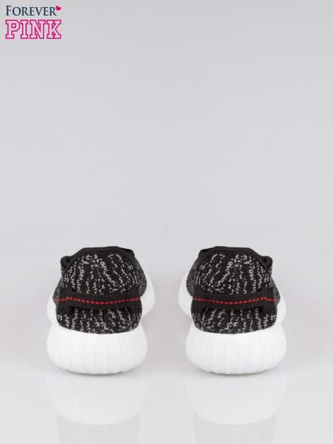 Czarne sportowe buty textile Blossom z szarym nadrukiem                                  zdj.                                  3