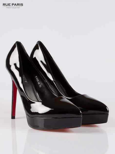 Czarne szpilki high heels na platformie Elsa                                  zdj.                                  2