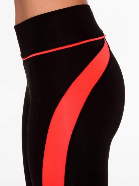 Czarne termoaktywne legginsy do biegania z fluoróżowymi lampasami ♦ Performance RUN                                  zdj.                                  8