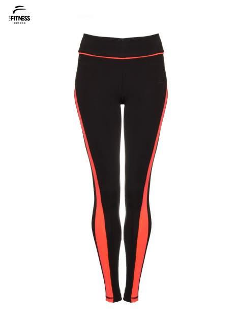 Czarne termoaktywne legginsy do biegania z fluoróżowymi lampasami ♦ Performance RUN                                  zdj.                                  5