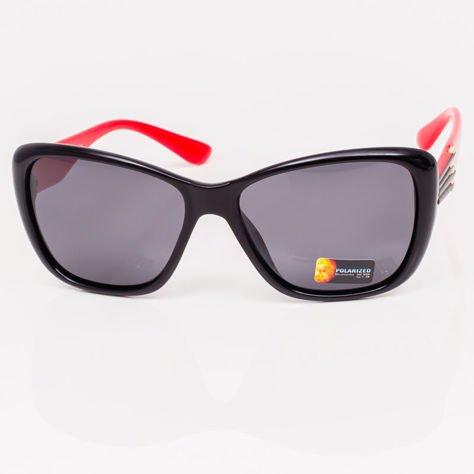 Czarno-Czerwone Damskie Okulary POLARYZACYJNE                               zdj.                              3