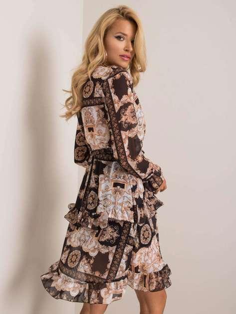 Czarno-beżowa sukienka Emmy OCH BELLA