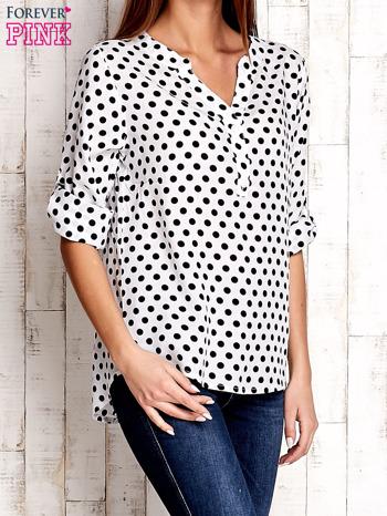 Czarno-biała koszula w groszki                                  zdj.                                  3