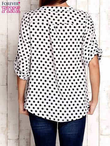 Czarno-biała koszula w groszki                              zdj.                              4