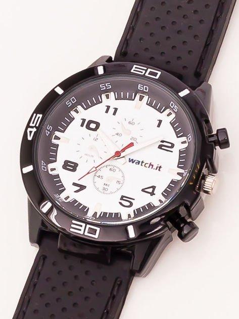 Czarno-biały zegarek męski                               zdj.                              3