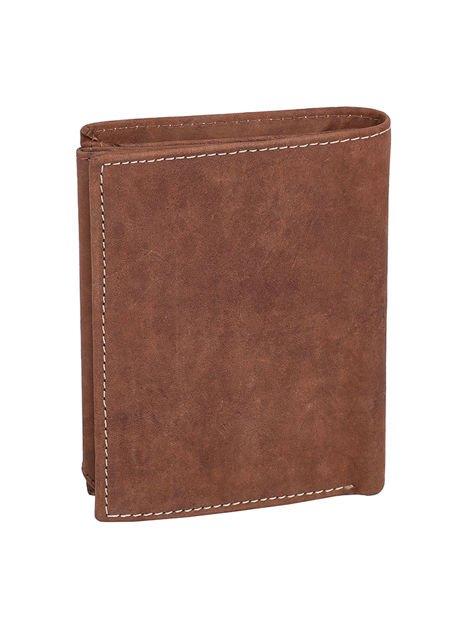 Czarno-brązowy portfel dla mężczyzny ze skóry                              zdj.                              2