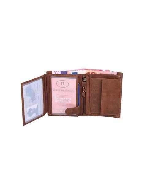 Czarno-brązowy portfel dla mężczyzny ze skóry                              zdj.                              4