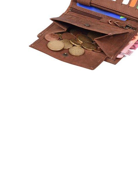 Czarno-brązowy portfel dla mężczyzny ze skóry                              zdj.                              6