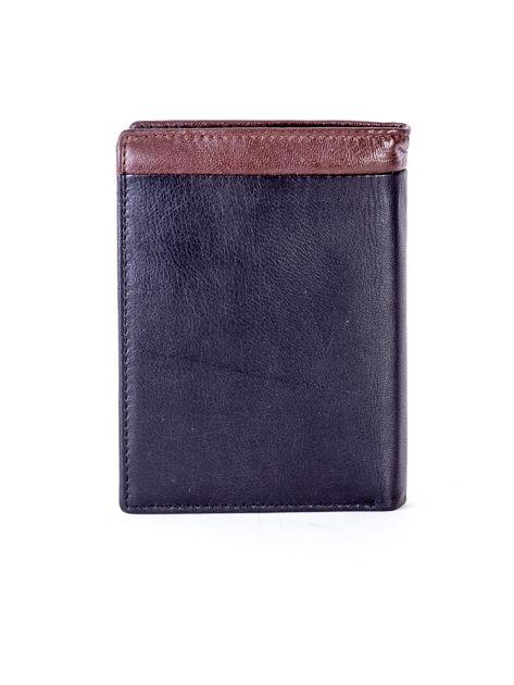 Czarno-brązowy portfel męski ze skóry                              zdj.                              2