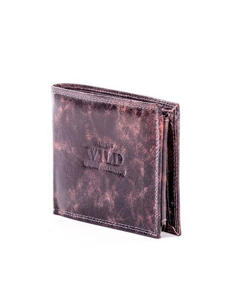 Czarno-brązowy skórzany portfel dla mężczyzny                              zdj.                              3