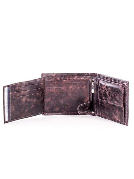 Czarno-brązowy skórzany portfel dla mężczyzny                              zdj.                              6