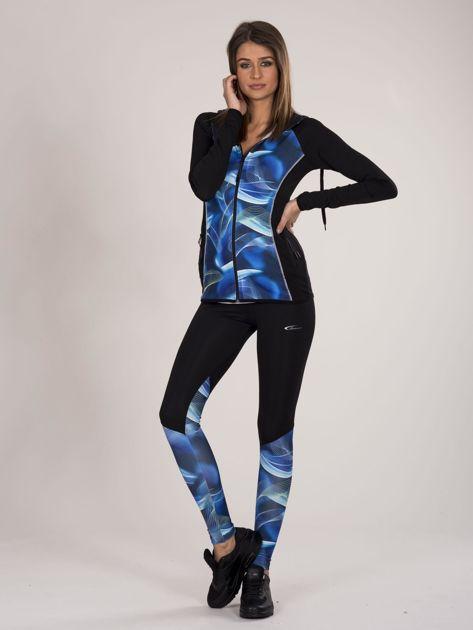 Czarno-niebieski dwuczęściowy komplet fitness                              zdj.                              1