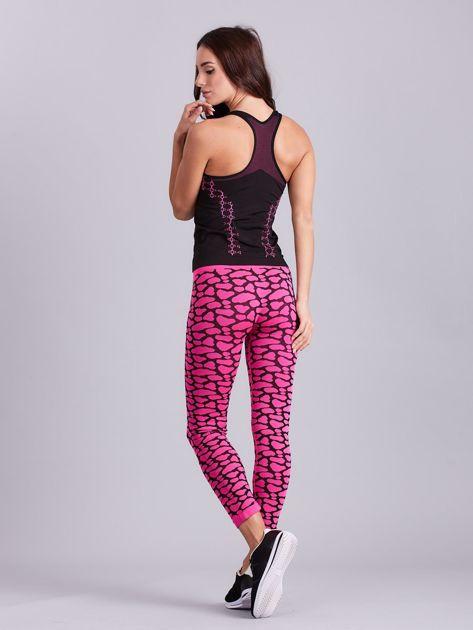 Czarno-różowy komplet fitness top i legginsy                              zdj.                              10