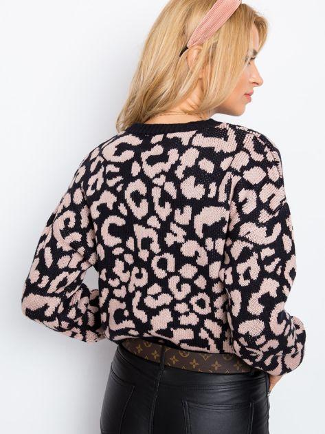Czarno-różowy sweter Candy                              zdj.                              2